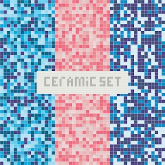 Piscina de azulejos. patrón abstracto