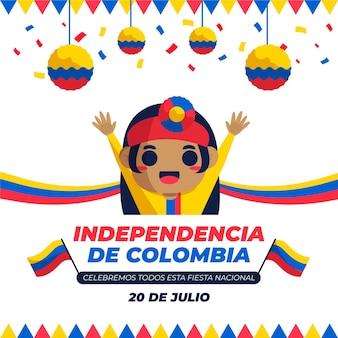 Piso 20 de julio - independencia de colombia ilustracion