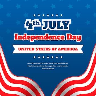 Piso 4 de julio - día de la independencia