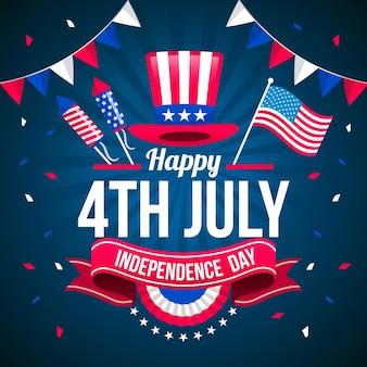 Piso 4 de julio día de la independencia