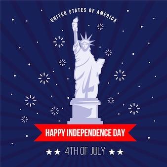 Piso 4 de julio - ilustración del día de la independencia