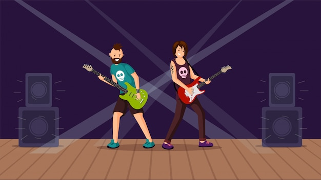 Piso de concierto de rock