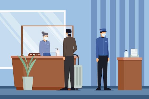 Piso ecológico nuevo normal en hoteles