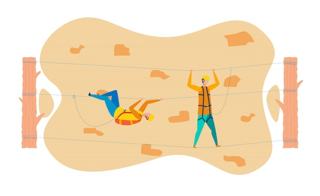 Piso de entrenamiento de escaladores de roca