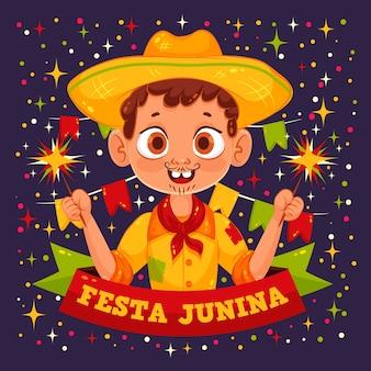 Piso festa junina