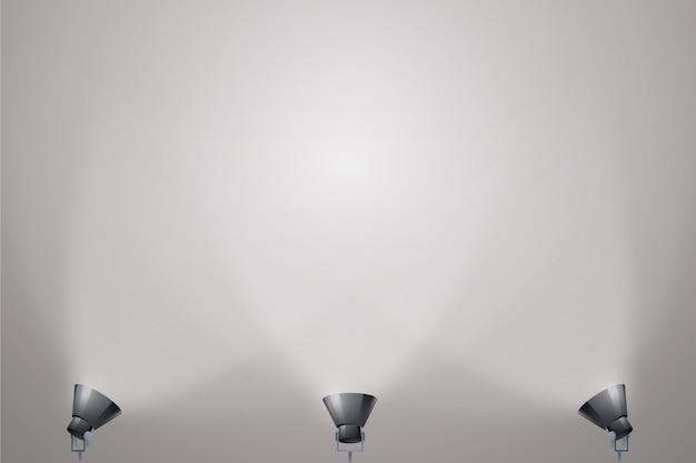 En el piso luces de fondo