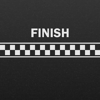 Pista de carreras de la línea de meta