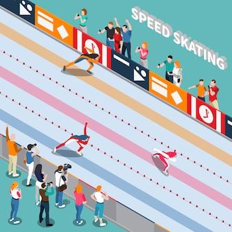Pista de patinaje isométrica