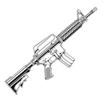 Pistola colt ar 15