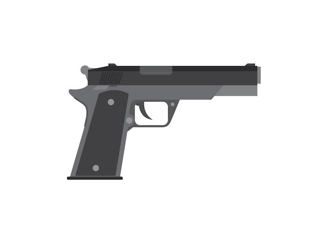 Pistola en fondo blanco.