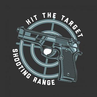 Pistola glock dio en el blanco