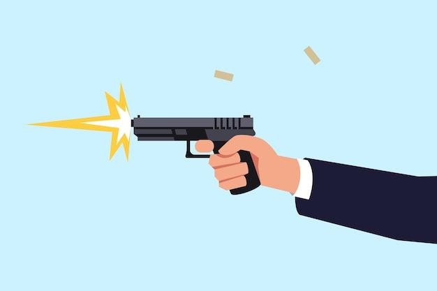 Pistola de tiro semi plana color rgb