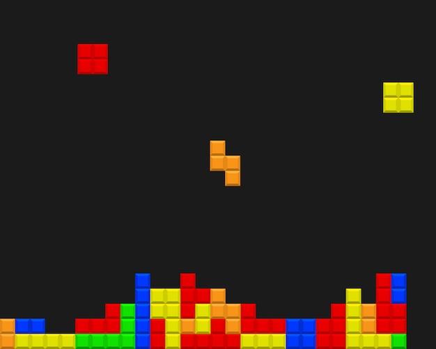 Pixel ladrillos vector