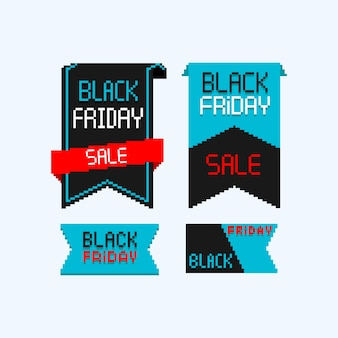 Pixel negro viernes venta banner.