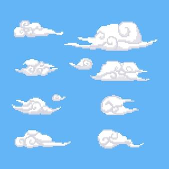 Pixel nubes chinas establecen.