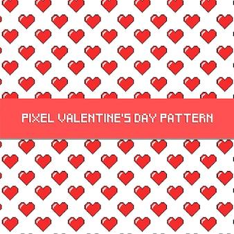Pixel valentine's day pattern