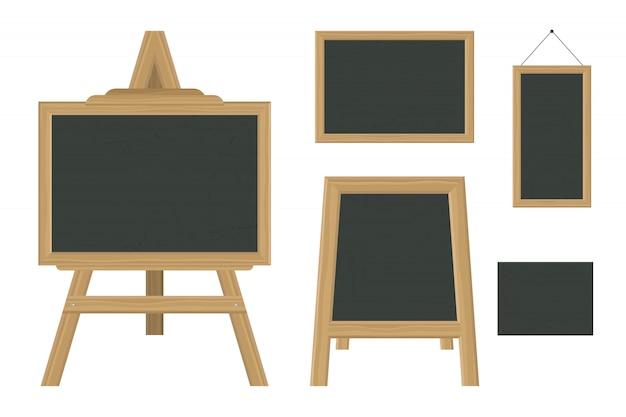 Pizarra en diferentes sisez ilustración aislada