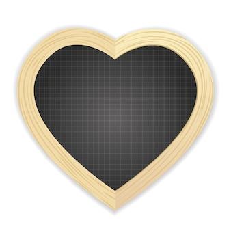 Pizarra en forma de corazón