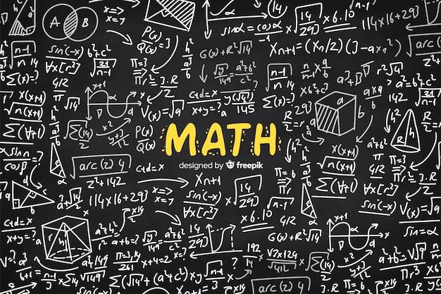 Pizarra de matemáticas