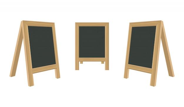 Pizarra para menú con ilustración de marco de madera