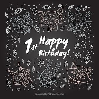 Pizarra de primer cumpleaños