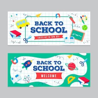 Pizarra de regreso a la escuela pancartas