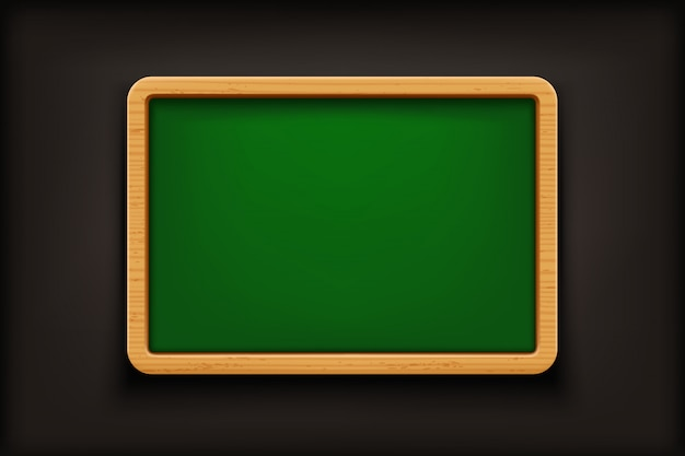 Pizarra verde sobre negro