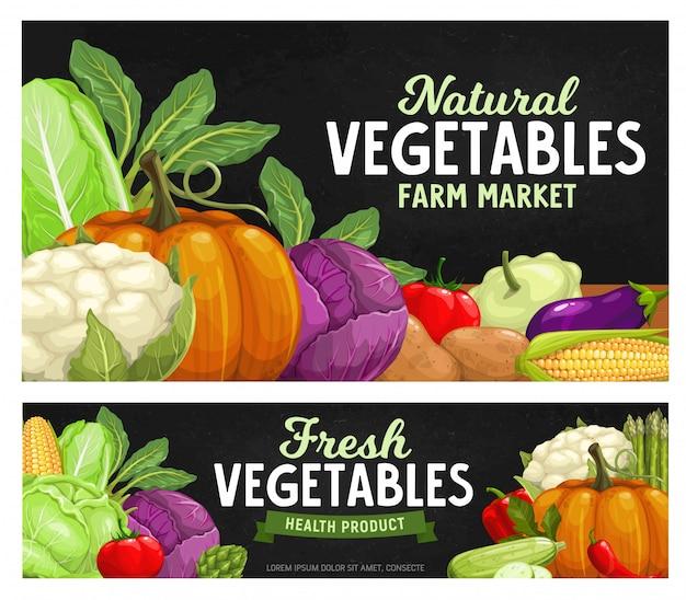 Pizarra de verduras de granja madura, cosecha de alimentos