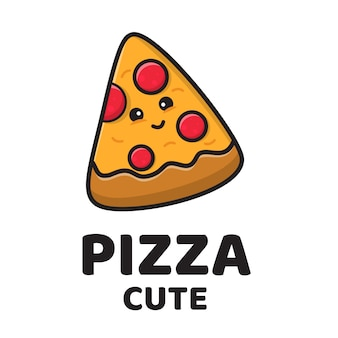 Pizza cute logo