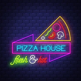 Pizza house letrero de neón