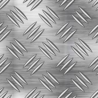 Placa de metal industrial con superficie de diamante antideslizante, sin patrón