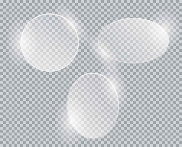 Placa de vidrio sobre fondo transparente. acrílico y textura de vidrio con resplandores y luz.
