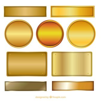 Placas de oro
