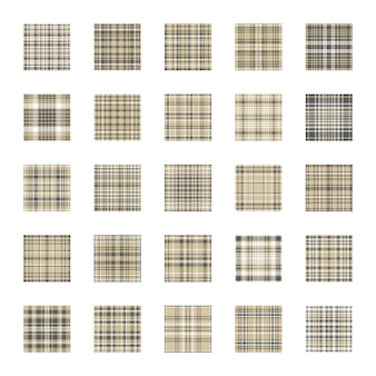Plaid vector de patrones sin fisuras de color dorado. establecer vacaciones fondo oro y gris textura de la tela.