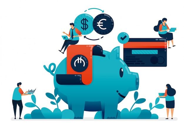 Plan de inversión para jubilación, propiedad, escuela, inversión con servicios bancarios.