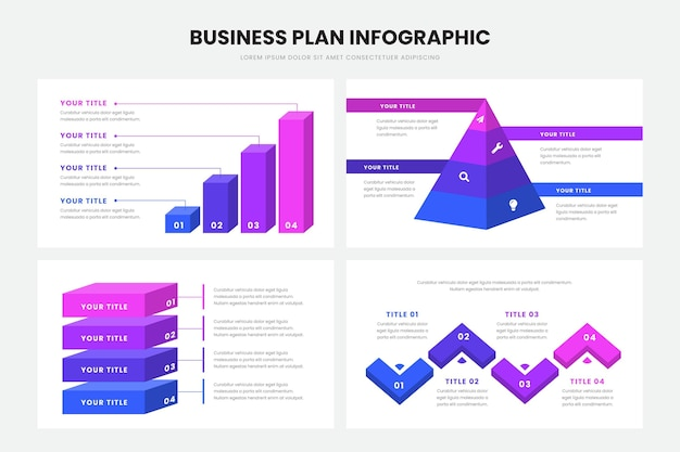 Plan de negocios estilo infográfico