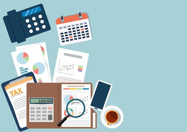 Plan de negocios financieros vector
