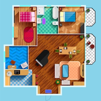 Plan de piso arquitectónico