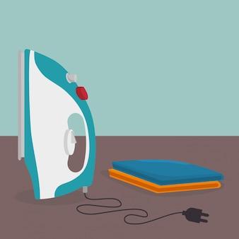 Plancha de ropa servicio de lavanderia eléctrica