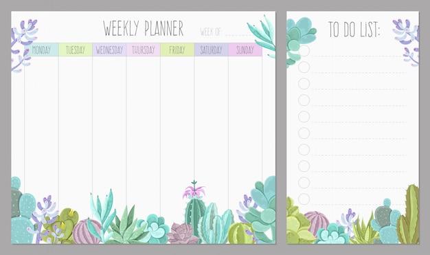 Planeador semanal