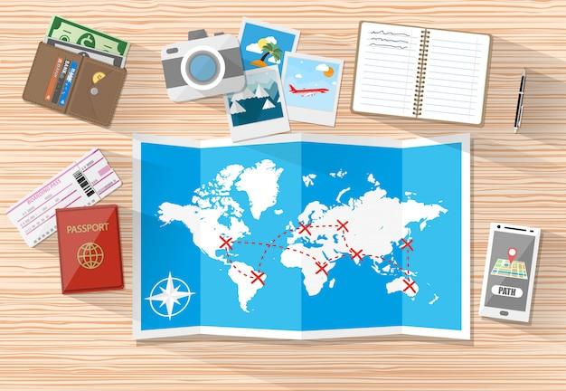 Planeando un concepto de vacaciones