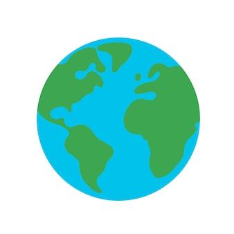 Planeta tierra planeta icono de diseño plano para web y móvil, banner, infografía.