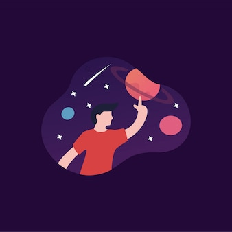 Planetario ilustración diseños