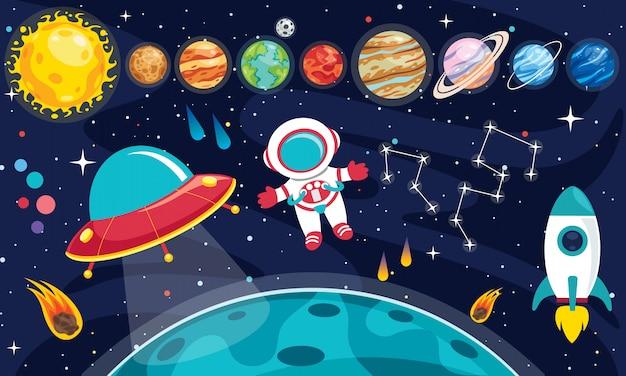 Planetas coloridos del sistema solar
