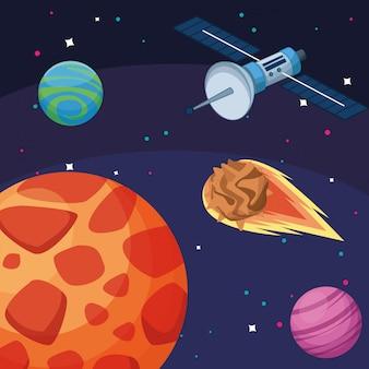 Planetas satelitales asteroide galaxia astronomía exploración espacial