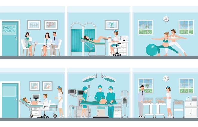 Planificación familiar con profesionales médicos.