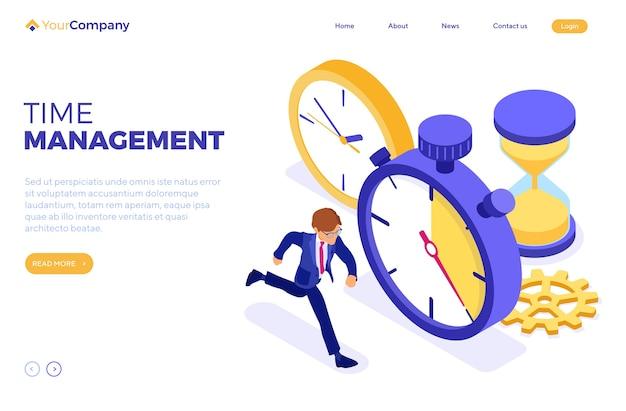 Planificación de la gestión del tiempo programado con cronómetro