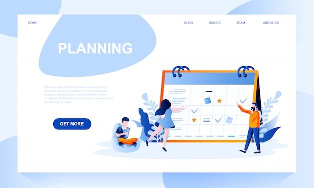 Planificación de plantilla de página de destino con encabezado