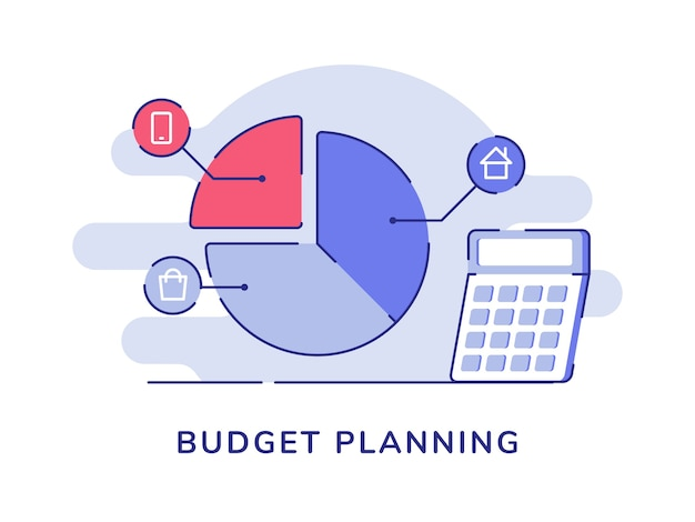 Planificación de presupuesto gráfico circular compras smartphone
