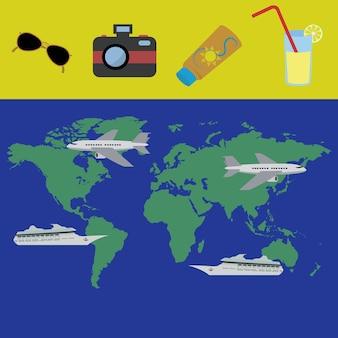 Planificación de vacaciones para un concepto de viaje